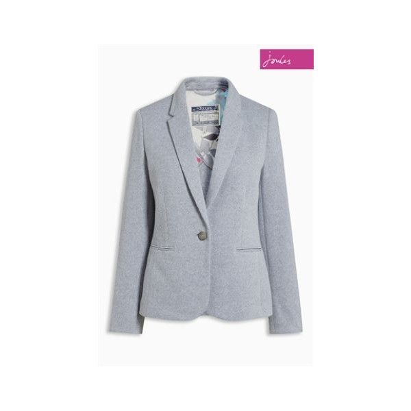 Blazer Joules Justine gris chiné (6.735 RUB) ❤ liked on Polyvore featuring joules blazer, blazer jacket and joules jackets