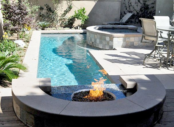 9 best very small backyard pools images on pinterest for Pool design elements