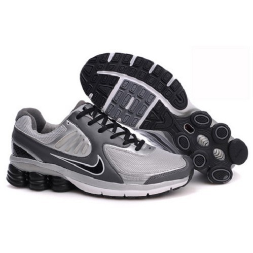 Collection Nike Shox Qualify  Wolf Grey/Neutral Grey-Matte Silver-Black Men Running Shoes 1004 $56.8 http://forinstantpurchase.com/sneakers