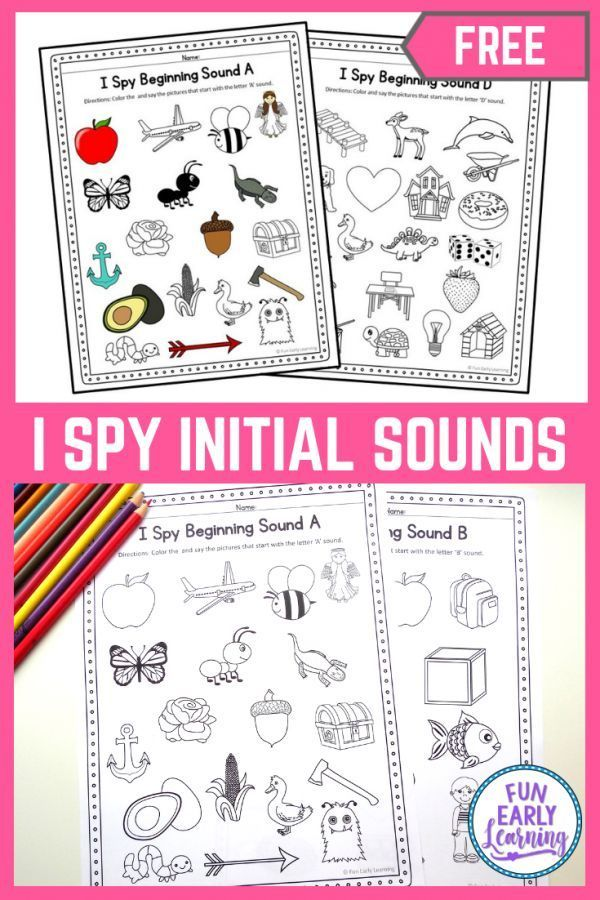 I Spy Beginning Sounds in 2020 Phonics printables