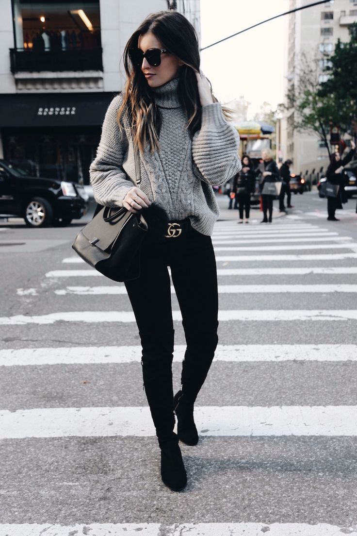 Chunky Knit Sweater on Madison Ave