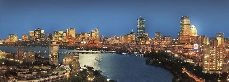 Boston, USA, city lights