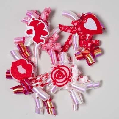 jumbo curly ribbon valentine bow Case of 48