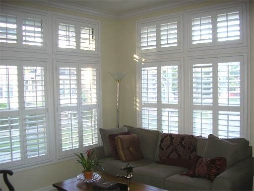 Plantation shutters for transom windows google search - Shutters for decoration interior ...