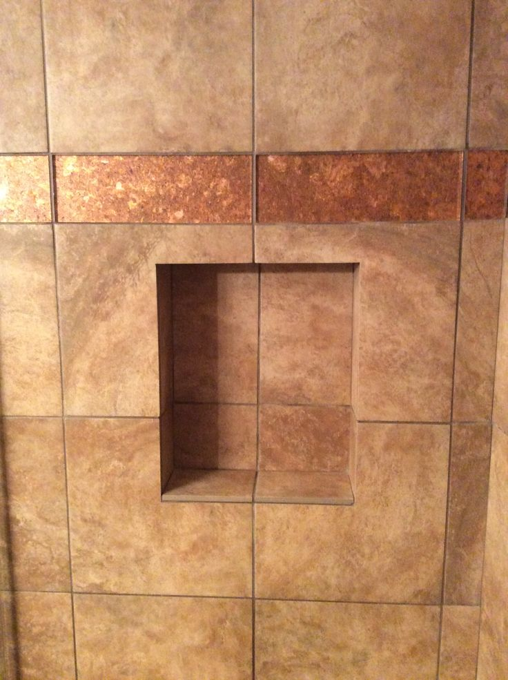 Photography Gallery Sites Custom bathroom remodel with tiled shower and copper trim and custom niche bigbearremodeling