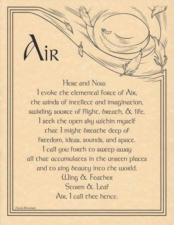 Air Evocation Parchment Poster or Book of Shadows Page | eBay