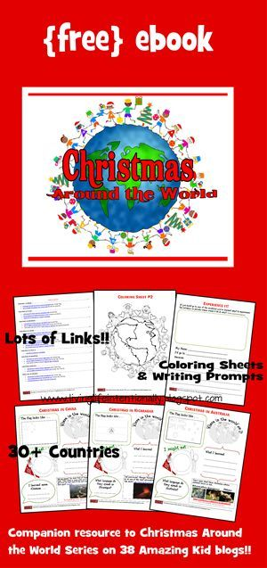 FREE Christmas Around the World Unit for kids. This is such a well done unit to explore geography, countries and cultures and their holiday traditions with this fun, free unit. Includes FREE printable book plus information and kids activities to go along with 32 countries. LOVE THIS!!