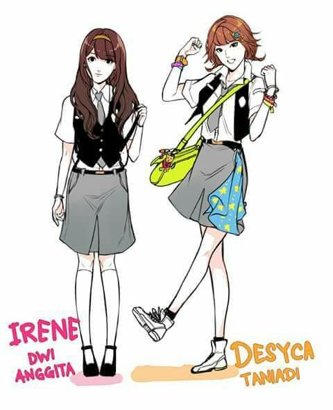 Irene & Desyca from #304thstudyroom by #feliciahuang at #webtoonindonesia