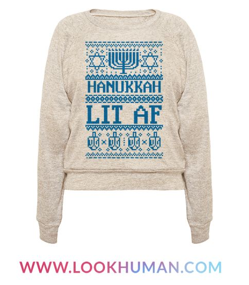 This hanukkah ugly sweater is great for all jewish people who love memes and ugly sweater patterns and of course, hanukkah cuz hanukkah lit AF! This funny jewish sweater is perfect for fans of  jewish jokes, hanukkah decor, hanukkah ugly sweaters and jewish ugly sweaters.