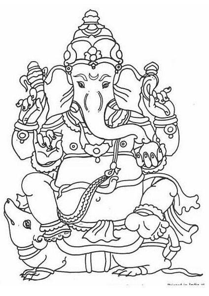 File:Ganesh drawing.jpg   India   Pinterest