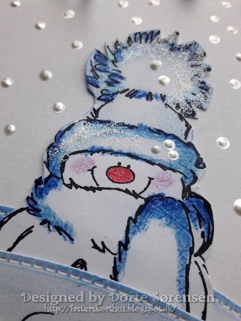 Fasters korthus: Snowman and winter theme