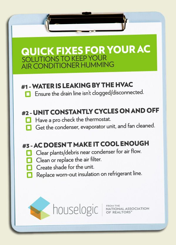 Make sure your air conditioner is ready for the coming months. Here are 8 common issues and their solutions. Equal Housing Opportunity #homemaintenance #repairs #summer