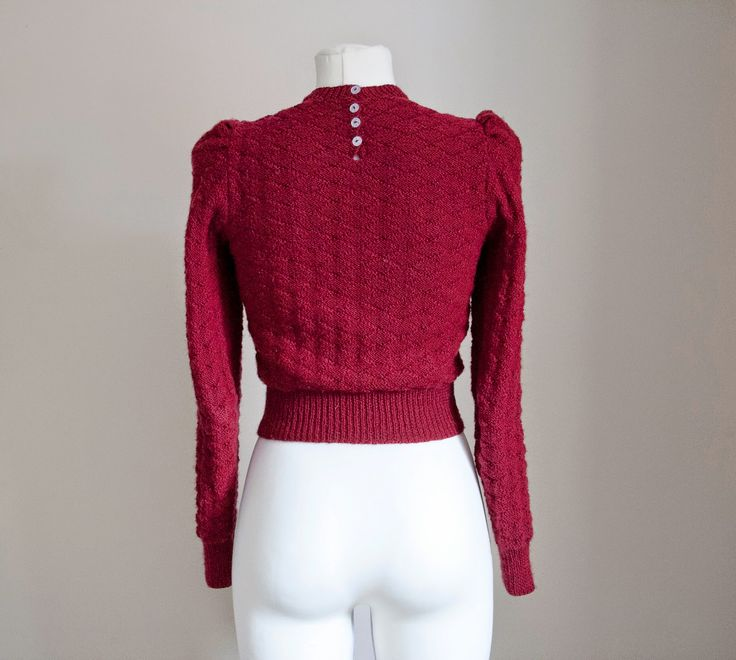 """Finished: """"In Vintage Tone"""" 1940s Knitted Jumper"""