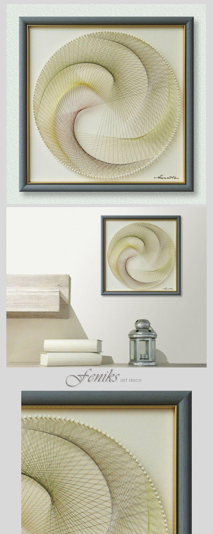 Home interiors and gifts framed art - Sunshine Yellow Wall Art Zen Modern Abstract String Art Spititual Sacred Geometry Golden Ratio Mandala Special Gift Framed Art