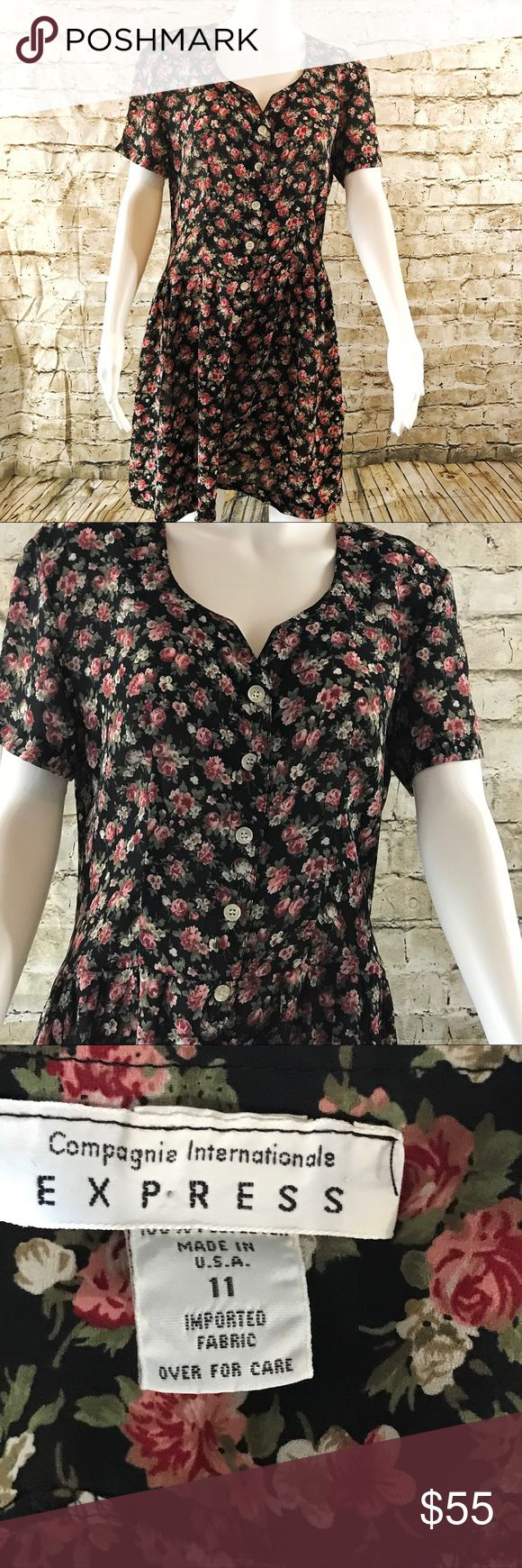 Express vintage romper floral jumper shorts Vintage. Circa 1990. Great condition. Express Shorts