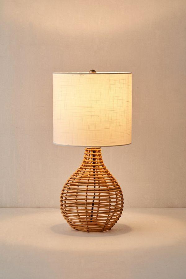 Bri Rattan Table Lamp Boho Table Lamps Vintage Table Lamp Boho Table Lamp