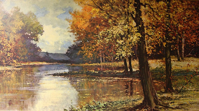Robert Wood - Path of Gold  Landscape painter from the 70's.