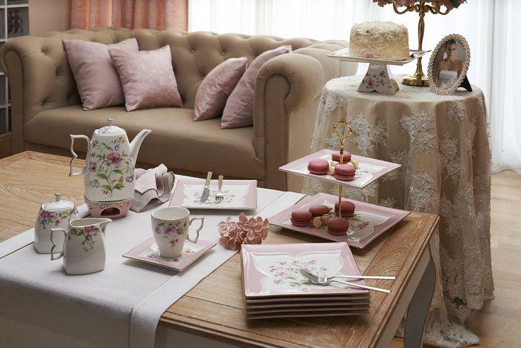 Butterfly Çay Seti / Tea Set #bernardo #teatime #cake #porcelain #porselen