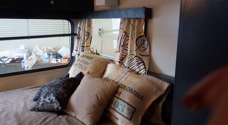 Recycled coffee sack cushions