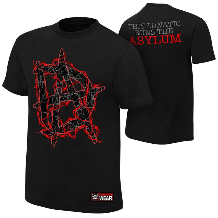Dean Ambrose THIS LUNATIC RUNS THE ASYLUM Black WWE Authentic T-Shirt OFFICIAL - http://bestsellerlist.co.uk/dean-ambrose-this-lunatic-runs-the-asylum-black-wwe-authentic-t-shirt-official/