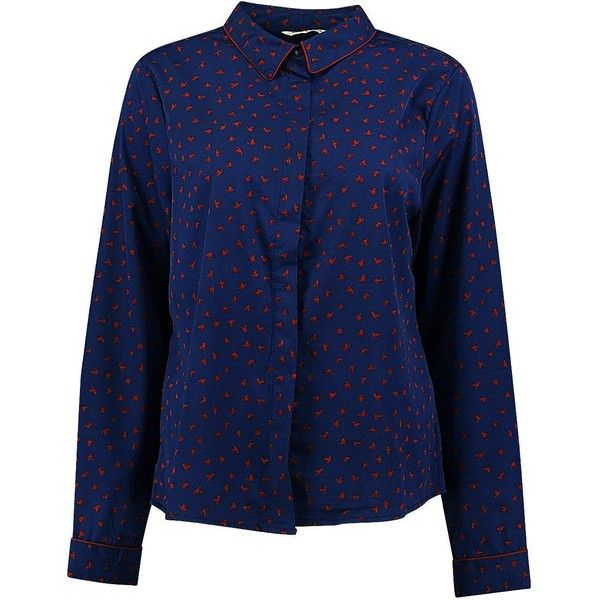 Boohoo Annabelle Bird Print Shirt (230 UYU) ❤ liked on Polyvore featuring tops, off the shoulder crop top, off shoulder tops, polka dot crop top, bralette crop top and jersey crop top