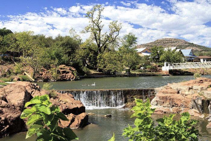 Nestled in the Wichita Mountains in southwestern Oklahoma is the vintage cobblestone resort town, Medicine Park.