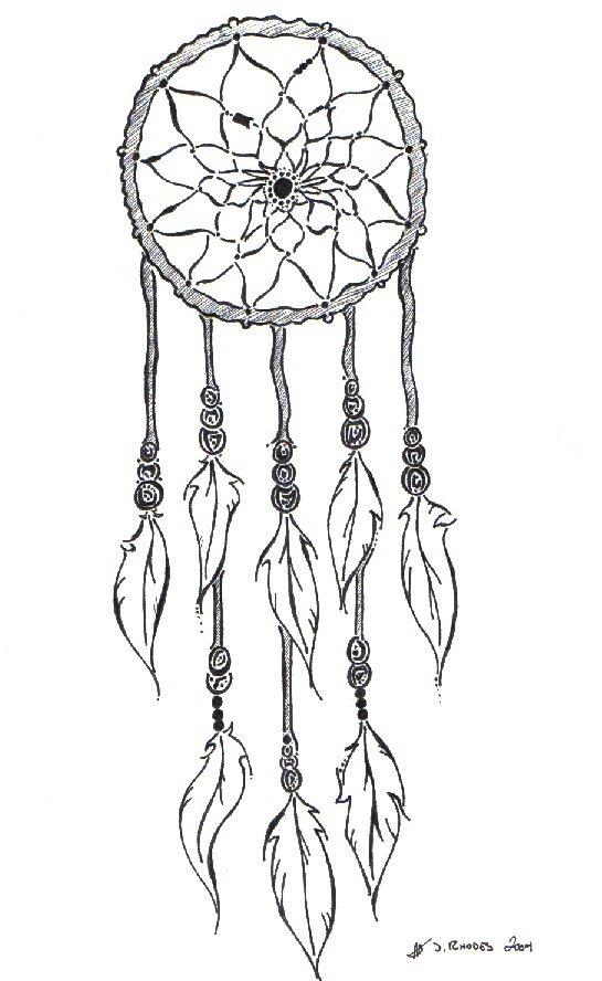 Dream catcher tattoo outline idea zentangle pinterest for Dreamcatcher tattoo template