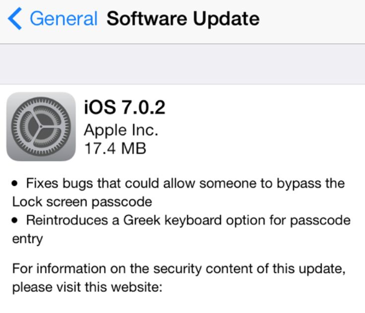 Apple releases iOS 7.0.2 with Lock screen passcode flaw fix http://9to5mac.com/2013/09/26/apple-releases-ios-7-0-2-with-lock-screen-passcode-flaw-fix/
