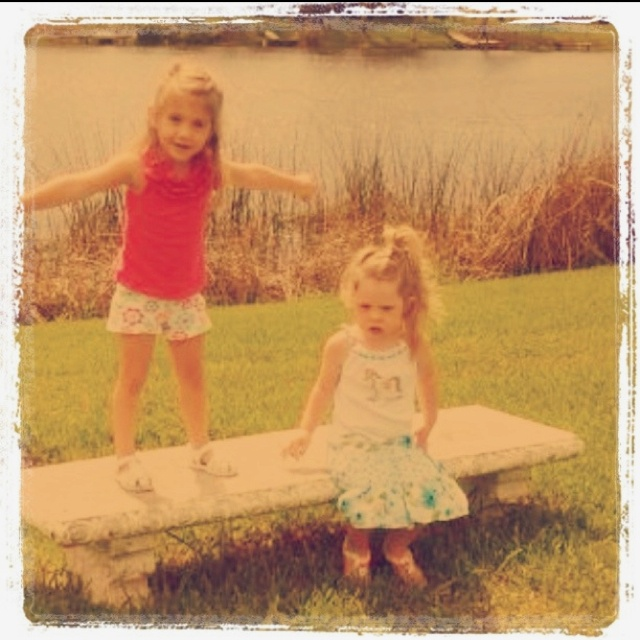 Best friends. @Becky.. You need to send pictures to me of us at this age.