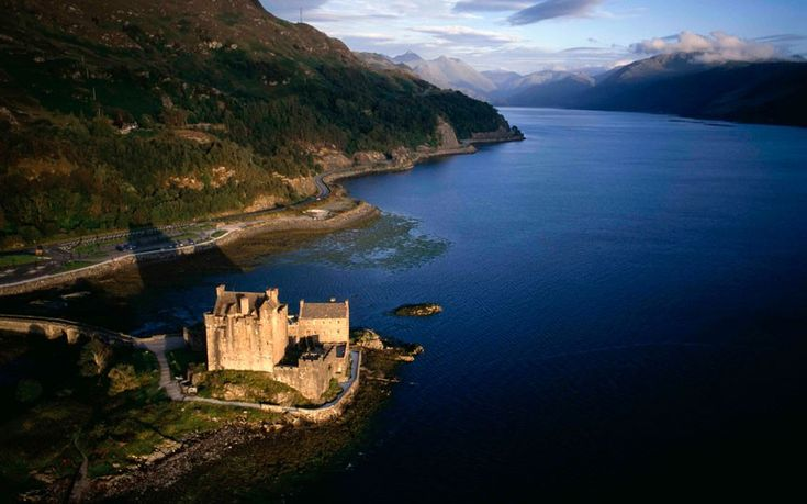 Britain From Above: Month by Month by Jason Hawkes - TelegraphLoch Convergence, Favorite Places, Highlands Pictures, Eilean Donan Castles, West Coast, Jason Hawks, Britain From Above, Beautiful Pictures, Castles Scotland