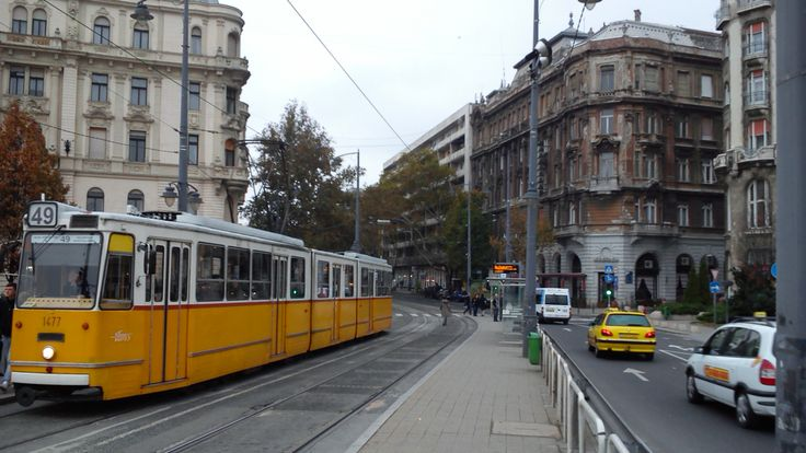 #Tram No.49 at the Gellért Hotel in #Budapest #Hungary.