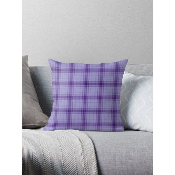 Throw Pillows ❤ liked on Polyvore featuring home, home decor, throw pillows, plaid throw pillows, purple throw pillows, purple accent pillows, purple home decor and plaid home decor