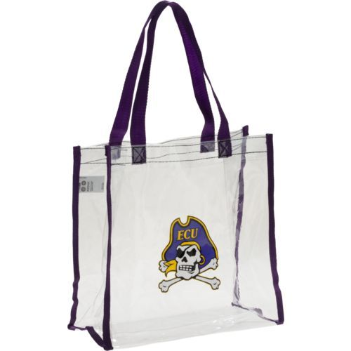 Forever Collectibles East Carolina University Clear Reusable Bag (Clear, Size ) - NCAA Licensed Product, NCAA Novelty at Academy Sports