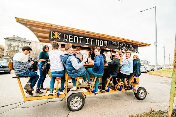 Stag do ideas: Budapest beer bike. See some of this amazing city whilst enjoying a pint or two with your mates. Guaranteed laughs and rated 4.8/5 by stag groups who have been there and tried it.