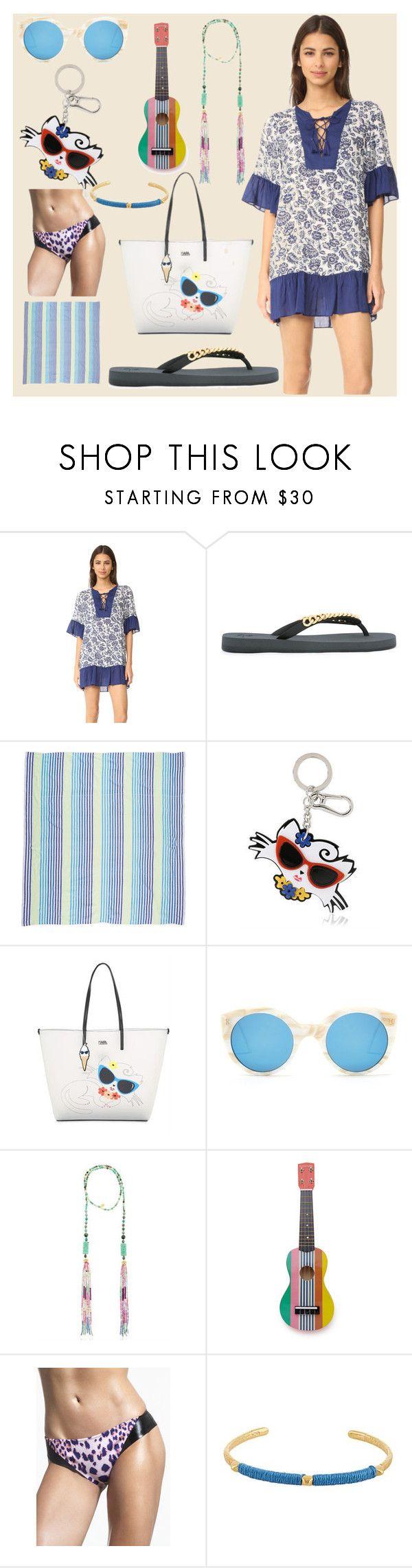 """Beach fashion sale"" by camry-brynn ❤ liked on Polyvore featuring Parker, Giuseppe Zanotti, Las Bayadas, Karl Lagerfeld, Illesteva, Katerina Psoma, Sunnylife, Duskii and Marte Frisnes"