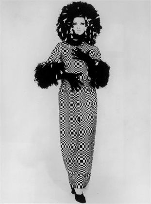 op dress by roberto capucci, 1965