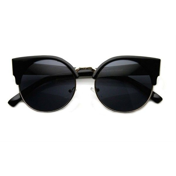 Amazon.com: Cateye or High Pointed Women's Eyeglasses or Sunglasses... ($6.99) ❤ liked on Polyvore featuring accessories, eyewear, semi rimless glasses, round glasses, cat-eye glasses, rounded glasses and vintage style glasses