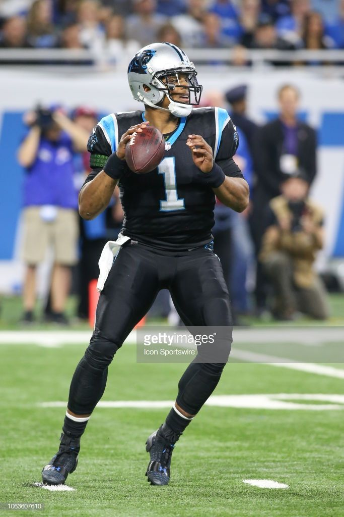 f0ab165f Carolina Panthers quarterback Cam Newton looks for a receiver during ...