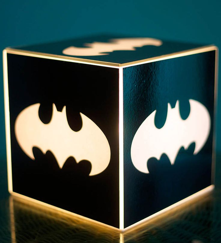 10am Black Batman Cube Table Lamp by 10am Online - Pop Culture ...