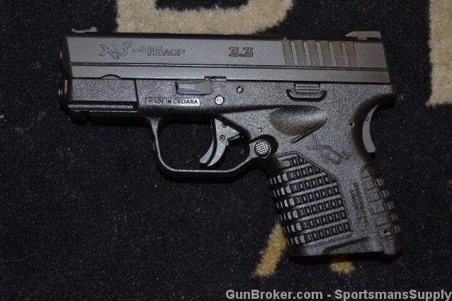 GunAuction.com - Springfield XDS-45 .45acp POST RECALL Black, NIB 2-Mags - Item:12534784