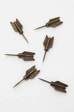 HOME DECOR – HARDWARE – Archer Pushpin - contemporary - bulletin board - Urban Outfitters. If you keep a corkboard around for inspirations and notes, why not dress it up a little with some unexpected pushpins? Set of 6. — Bonnie Christine