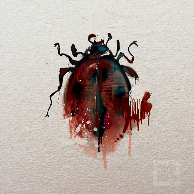 red drips on ladybug by Filthy Rags (via Creattica)