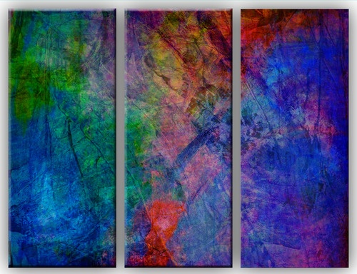"""""""Joy"""" beeswax encaustic for project triptych by Jolie B Studios"""
