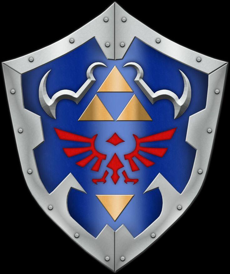 Link's Shield Zelda tattoo, Zelda party, Zelda breath