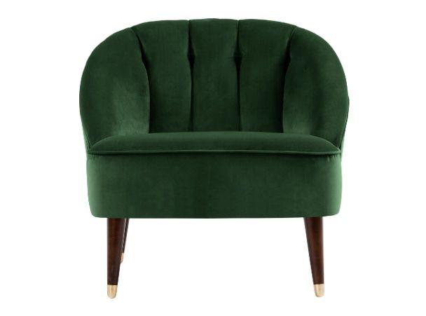 Margot Accent Chair, Forest Green Velvet