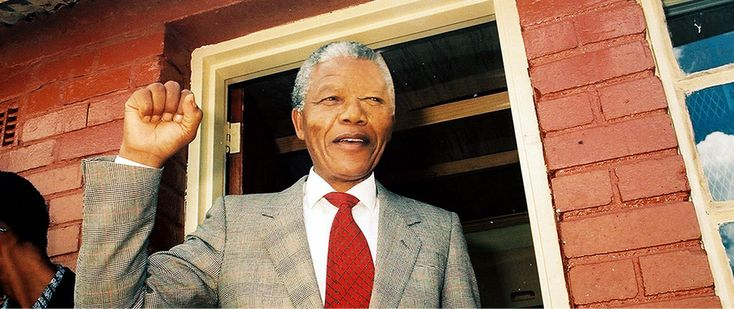 A photo of Madiba, when he arrived at his home in Soweto, after his release from jail. Photo by Ilan Ossendryver