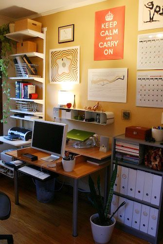 The Spring Cure: The Thick Of It. Organized Home OfficesDesk ...