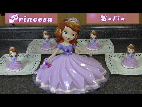 Gelatina de princesa Disney Elsa o Anna en 3 leches Y berry blue . - YouTube