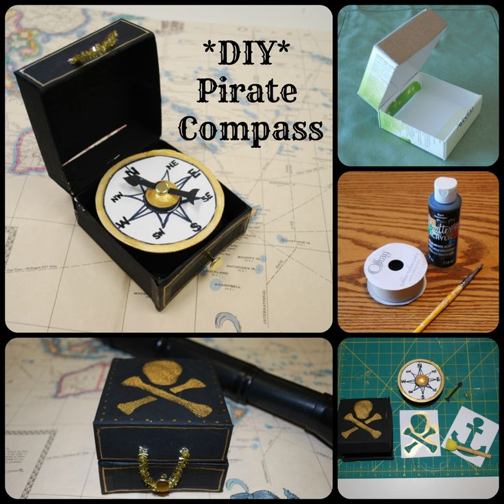 DIY Kids Pirate Compass from Onetimethrough
