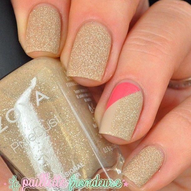 Uñas doradas!! Nails!!